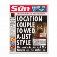 The Sun Wedding Newspaper
